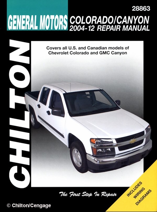chevy colorado gmc canyon repair manual 2004 2010 chilton rh themotorbookstore com 2004 chevrolet express 3500 owners manual 2004 Chevrolet Malibu