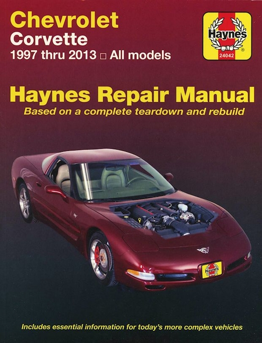 chevrolet corvette repair manual haynes 1997 2013 free shipping rh themotorbookstore com 2000 corvette repair manual 2014 Corvette