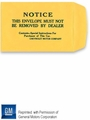 Chevrolet Motor Company Owner's Manual Printed Envelope