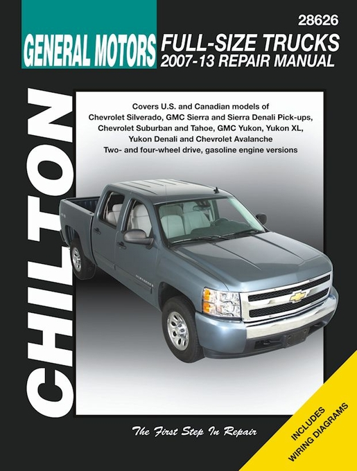 silverado tahoe sierra yukon denali repair manual 2007 2013 rh themotorbookstore com 1998 gmc sierra repair manuals free 2000 gmc sierra repair manual pdf
