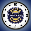 Chevrolet Super Service Wall Clock, LED Lighted