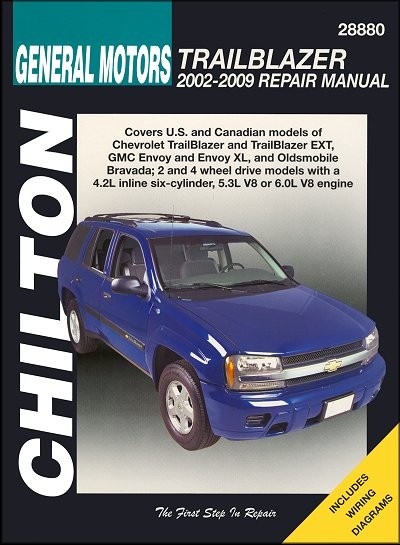 trailblazer envoy bravada repair manual 2002 2009 chilton rh themotorbookstore com 04 GMC Envoy Instrument Cluster 04 gmc envoy owner's manual