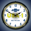 Chevrolet USA 1 Wall Clock, LED Lighted