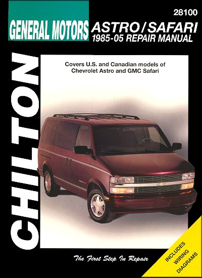 chevrolet astro gmc safari repair manual 1985 2005 chilton rh themotorbookstore com 2012 GMC Safari Van 2005 GMC Safari Engine View
