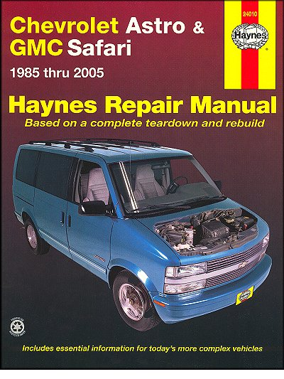 chevy astro gmc safari repair manual 1985 2005 haynes 24010 rh themotorbookstore com 2004 Chevrolet Astro Van 2004 Astro Van Wiper Sprayers