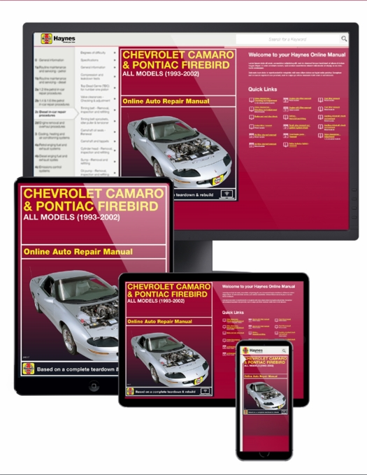 Chevy Camaro / Pontiac Firebird Online Manual, 1993-2002