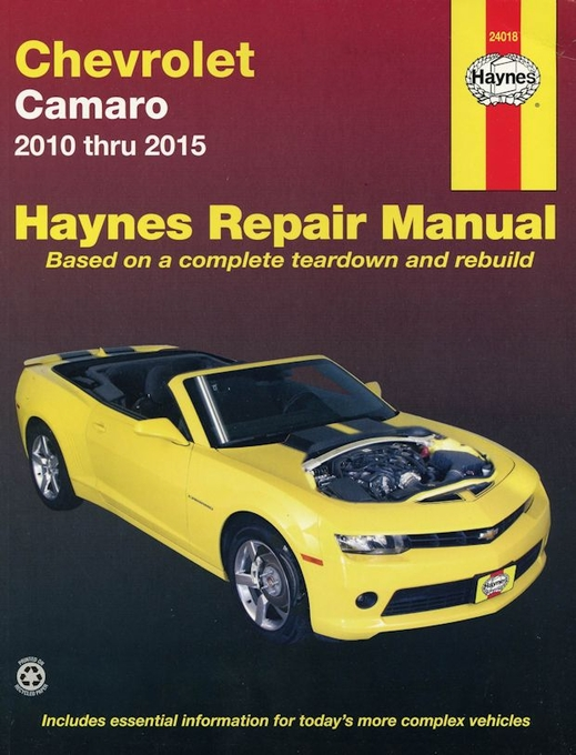 chevrolet camaro repair manual 2010 2015 haynes 24018 rh themotorbookstore com Haynes Manual Pictures Back Clymer Manuals