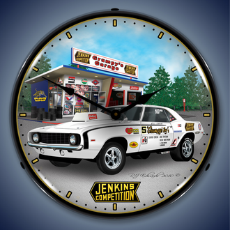 Chevy Camaro Wall Clocks, Lighted: 1967-2014