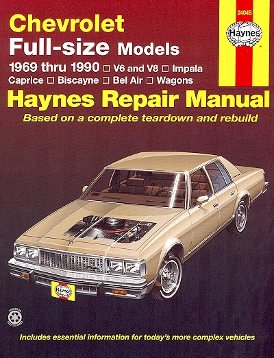 chevy caprice biscayne bel air impala repair manual 1969 1990 rh themotorbookstore com 1978 Caprice Landau 1978 Chevy Caprice White Top