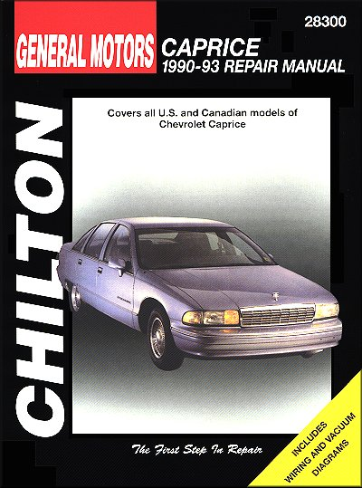 chevy caprice repair manual 1990 1993 chilton 28300 rh themotorbookstore com chevrolet caprice service manual chevrolet caprice owners manual