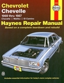 Chevy Chevelle, Malibu, El Camino Repair Manual 1969-1987
