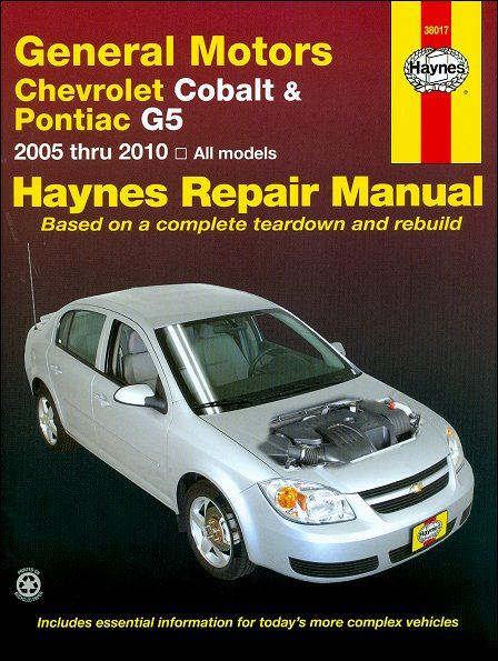Chevy Cobalt, Pontiac G5, Pursuit Repair Manual 2005-2010