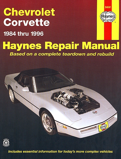Chevy Corvette Repair Manual 1984-1996
