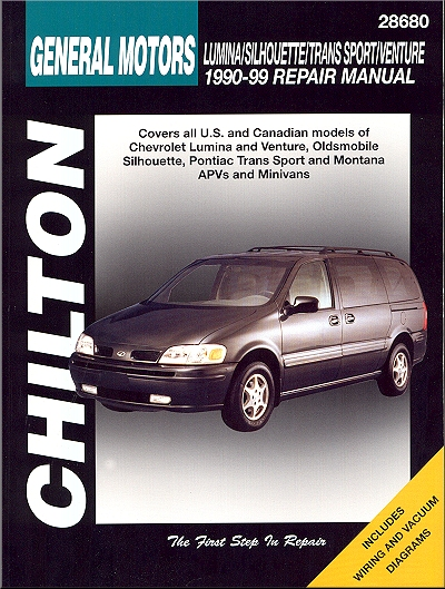 lumina silhouette trans sport montana repair manual 1990 1999 rh themotorbookstore com 2001 Oldsmobile Silhouette Manual 1999 oldsmobile silhouette repair manual