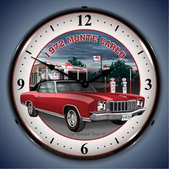 Chevy Monte Carlo Wall Clocks, LED Lighted