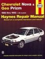 Chevy Nova, Geo Prizm Repair Manual 1985-1992