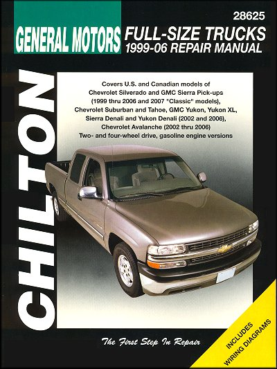 silverado sierra tahoe suburban yukon repair manual 1999 2006 rh themotorbookstore com 2006 gmc sierra 2500hd owners manual pdf 2006 gmc sierra 1500 owners manual