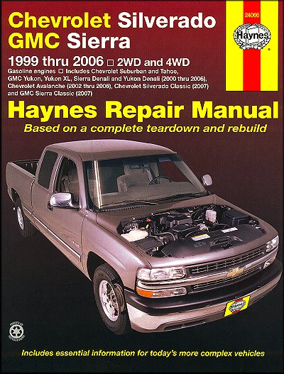 silverado tahoe sierra yukon repair manual 1999 2006 haynes rh themotorbookstore com 2004 Yukon XL Denali 2007 yukon denali owners manual download
