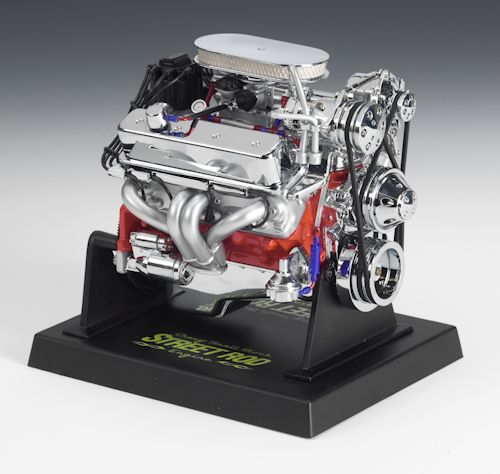 Chevy Small Block Street Rod Engine Die-Cast, 1:6 Scale
