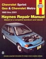 Chevy Sprint, Geo & Chevy Metro Repair Manual 1985-2001