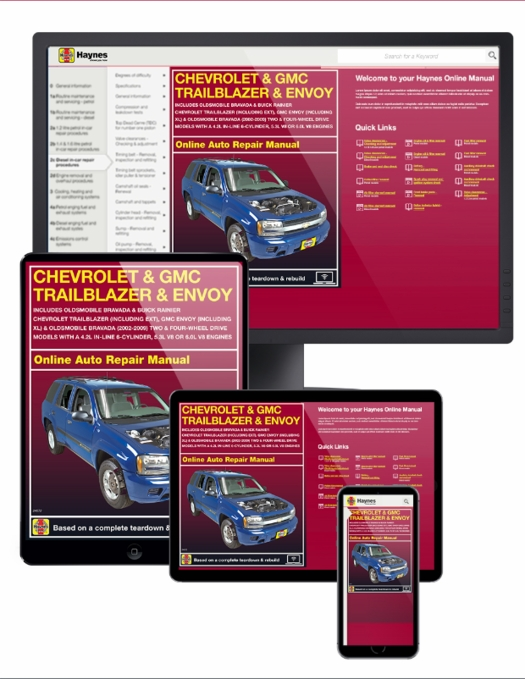 chevy trailblazer gmc envoy online service manual 2002 2009 rh themotorbookstore com gmc envoy 2002 manual pdf gmc envoy 2002 service manual