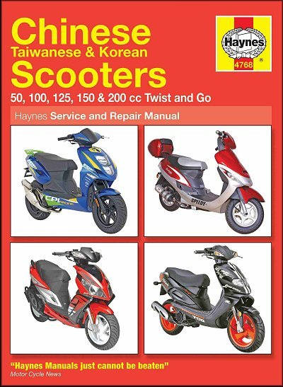 chinese taiwanese korean scooters tgb r50x manual rh themotorbookstore com A Chinese Scooter Repair Manual for 2008 Upslion haynes chinese scooter service & repair manual 4768