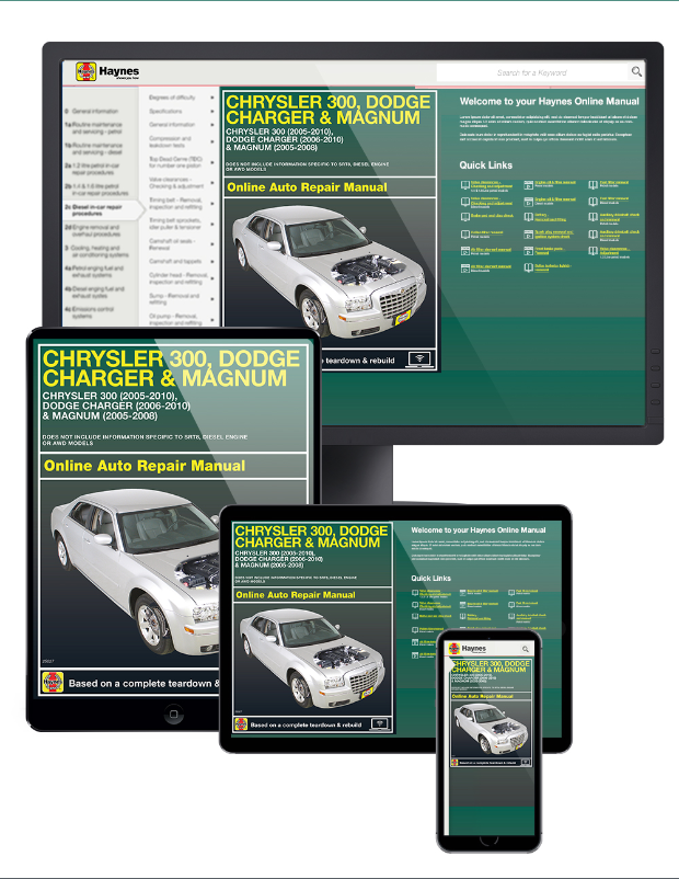 chrysler 300 dodge charger magnum repair manual 2005 2010 haynes rh themotorbookstore com 2010 dodge charger repair manual pdf 2008 Dodge Charger Manual Book