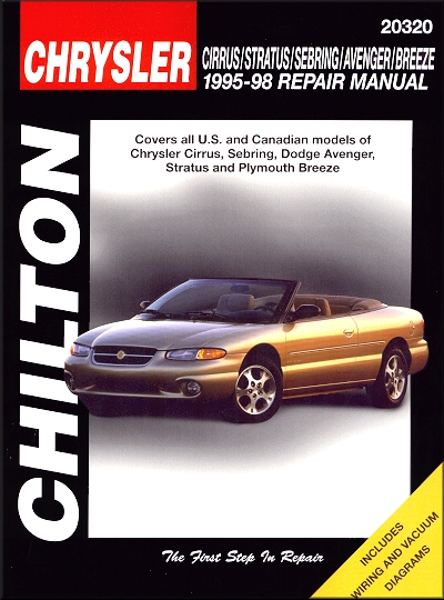 cirrus sebring avenger stratus breeze repair manual 1995 1998 rh themotorbookstore com 2009 Dodge Avenger Manual Dodge Avenger ManualsOnline