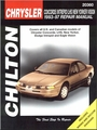 Chrysler Concorde, LHS, New Yorker, Dodge Intrepid, Eagle Vision Repair Manual 1993-1997