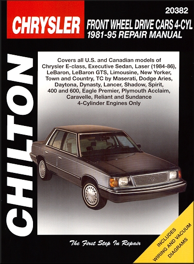 e class laser lebaron gts aries daytona repair manual 1981 1995 rh themotorbookstore com 1991 Chrysler LeBaron 1987 Chrysler LeBaron