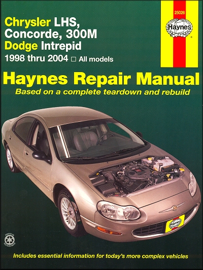 chrysler lhs concorde 300m intrepid shop manual 1998 2004 rh themotorbookstore com 2000 Dodge Intrepid 2004 dodge intrepid owners manual pdf