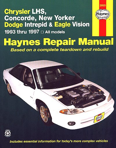 lhs concorde new yorker intrepid vision repair manual 1993 1997 rh themotorbookstore com 2001 Chrysler Concorde 2001 Chrysler Concorde