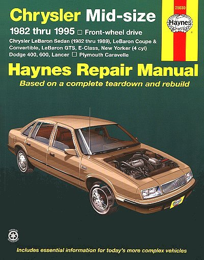 lebaron 600 lancer caravelle repair manual 1982 1995 haynes rh themotorbookstore com 1996 Chrysler New Yorker 1999 Chrysler New Yorker