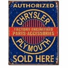 """Chrysler Plymouth Parts, Accessories"" Tin Sign"