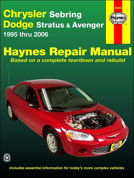 Chrysler Sebring  Dodge Stratus  Avenger Repair Manual 1995