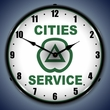 Cities Services Wall Clock, LED Lighted