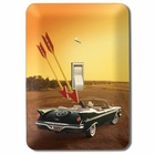 """Classic Car and Arrows"" Light Switch Plate"