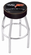 Corvette C6 Swivel Bar Stool - 25 inches, Gold Accent