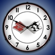 Corvette Flags LED Lighted Clock