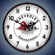 Corvette Logo LED Lighted Clock: 1956, 1957