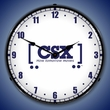 CSX Railroad How Tomorrow Moves Wall Clock, LED Lighted