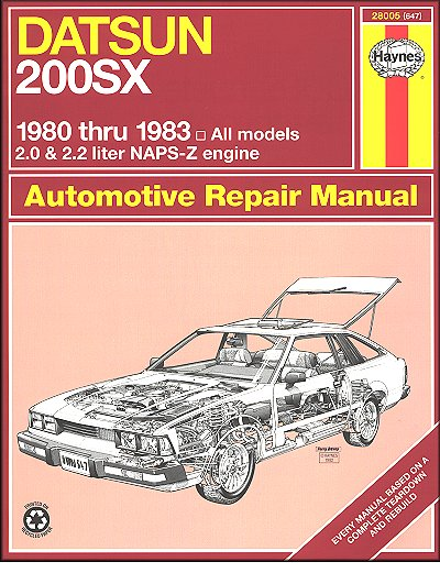 datsun 200sx repair manual 1980 1983 haynes 28005 rh themotorbookstore com 2 Liters in Ounces 2 Liters in Ounces