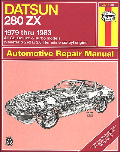 datsun 280zx gl turbo deluxe repair manual 1979 1983 haynes rh themotorbookstore com How Many Liters Is 2 2 Liters in Ounces