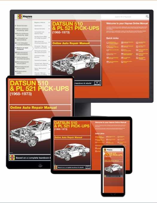 Datsun 510 Amp Pl 521 Pick Up Online Service Manual 1968 1973 border=