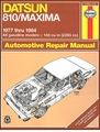 Datsun 810, Nissan Maxima Repair Manual 1977-1984