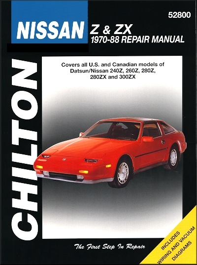 datsun nissan z zx repair manual 1970 1988 chilton rh themotorbookstore com 1976 datsun 280z owners manual datsun 280z service manual