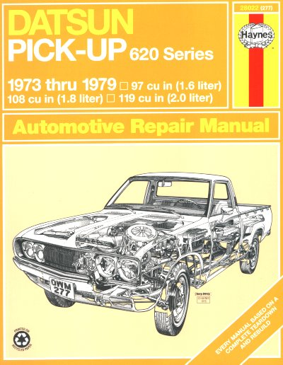 datsun pickup 620 series repair shop manual 1973 1979 rh themotorbookstore com 1973 datsun 620 wiring diagram 1985 Nissan 720 Wiring-Diagram