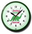 Dino Sinclair Gas Station Neon Clock: High Quality, 20 Inches
