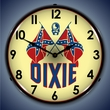 Dixie Gas Wall Clock, LED Lighted: Gas / Oil Theme