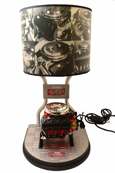 Dodge 426 Hemi Engine Table Lamp